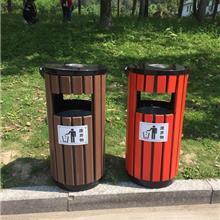 煌仑_义乌垃圾桶批发电话 浙江环卫设备定制生产厂家 金华钢木桶垃圾桶定做