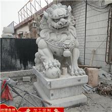 汉白玉石狮子 工艺品摆件石狮子 晚霞红石狮子 价格报价