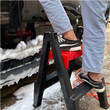 移动抛光椅 跨境移动式滚动座椅 万向轮家用洗车蜡抛光凳 储物工具
