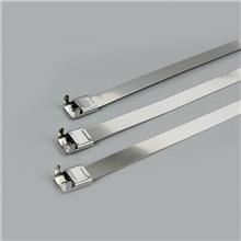 依森 钢珠自锁式不锈钢扎带 电线杆标牌扎带  供应定做