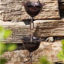 北京市公园用日式建筑排水连庭院装饰雨水链雨链厂家生产