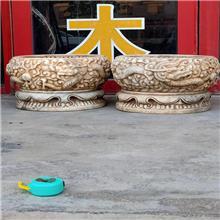 尚轩直供 花岗岩仿古花盆 汉白玉仿古花盆 石雕做旧复古鱼缸