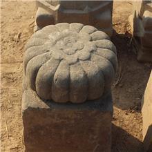 出售农村老石墩石凳子圆墩子花盘底座石桌底柱石墩门墩子