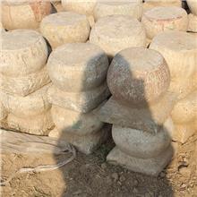 农村老石墩石凳子圆墩子花盘底座石桌底柱石墩门墩子厂家出售