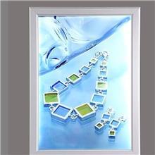 LED广告牌铝合金开启式边框导光板超薄灯箱亚克力广告灯箱 尺寸