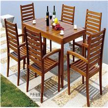 花园休闲套桌椅定制,安全实木餐桌6人位套桌椅批发_工厂直销