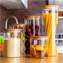 日式玻璃密封罐 透明密封玻璃密封罐 日式软木塞玻璃瓶 花果茶叶瓶
