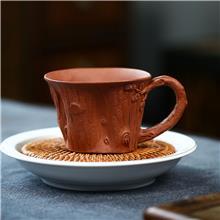 环良紫砂艺术馆 高端紫砂杯 仿生松桩树桩主人杯 正品定制