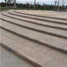 五莲红花岗石广场板 五莲红花岗岩梯级砖 台阶6公分五莲红石材广场砖