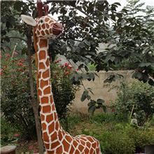 河北酒店装饰仿真动物模型现货 公园摆件仿真长颈鹿骆驼批发