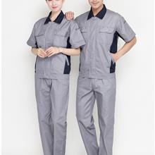 新款出售_女士斜纹短袖工装_女装白色短袖工装_短袖工装定做厂家_皇辰