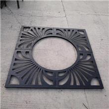 山东潍坊风筝博览会铸铁树池篦子、铸铁树池护板,铸铁护树板、铸铁树坑盖板