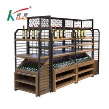 苏州柯顺商超设备超市货架红酒架落地红酒柜欢迎定制
