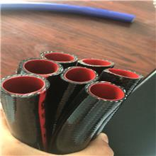 黑色三胶一线蛇皮管 PVC增强软管防藻类        四季柔软