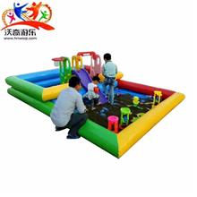 儿童陆地充气乐园-款式新颖安全-室外儿童海洋滑滑梯-蹦蹦床-蹦蹦床厂家