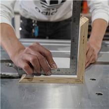 小型推台锯 家装门店用摇臂式推台锯 无尘子母锯 不锈钢锯台