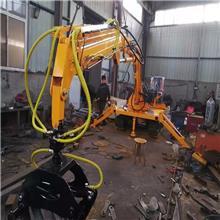 改装三轮车抓木机6.5米旋转抓甘蔗机快速抓草捆机新品
