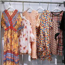 三标齐全凯撒贝雷kaisaber夏装大码连衣裙 撤柜品牌折扣女装尾货