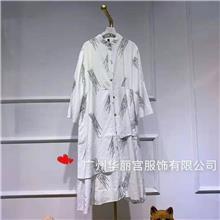欧莱华夏装批发品牌尾货在哪里进大码连衣裙