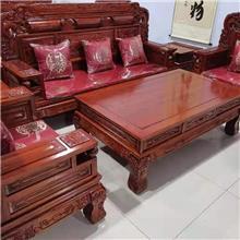佳美古典实木沙发 老榆木沙发六件套 实木客厅沙发套件 老榆木宝马沙发 老榆木财源沙发