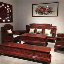 北方老榆木沙发 实木家具国色天香沙发 大小户型沙发套装 全实木雕刻百狮沙发 明清仿古家具