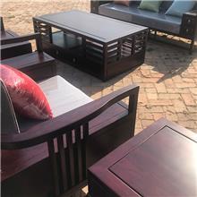 中式老榆木沙发 仿古客厅禅意沙发 别墅样板房沙发套件 客厅会所茶楼沙发 全实木榫卯沙发
