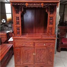 榆木雕花佛龛 供桌神台供台 神柜神龛套柜 实木佛龛 观音财神神台