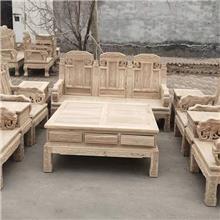 老榆木大象沙发 宫廷沙发七件套 实木古典沙发套装 宾馆酒店茶楼家具沙发 仿红木沙发
