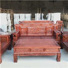 古典实木沙发组合 农村经济型沙发套装 客厅家具沙发 转角沙发组合 小户型木质沙发