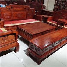 古典实木沙发组合 全实木雕花沙发 客厅木质沙发  小户型经济沙发套装 国宝沙发