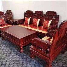 古典实木沙发组合 宫廷沙发套装 客厅农村实木沙发 中式雕花沙发 仿古实木沙发