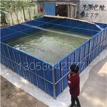 篷布帆布鱼池 高密度帆布鱼池 高栏水产养殖池 折叠帆布鱼池 支架鱼池