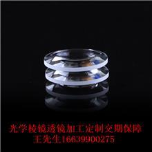 厂家供应折射镜教学实验加工定制透镜 棱镜 直角三棱镜 光学玻璃