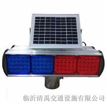 山东厂家直销 分体LED双面红蓝告示灯 道路障碍施工安全频闪灯 清禹