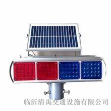 两组双面红蓝爆闪灯施工 太阳能爆闪灯LED告示灯 频闪灯 清禹 本地货源
