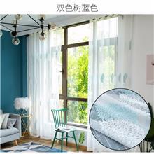 星与辰-深圳定制简约植物花卉布艺窗纱-星级酒店定制纯白色布艺窗纱