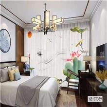 星与辰_爆款3D数码印花纱_酒店餐厅定制布艺窗纱