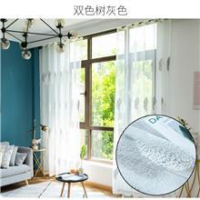 星与辰_深圳市企业定制夏季爆款清凉植物花卉布艺窗纱