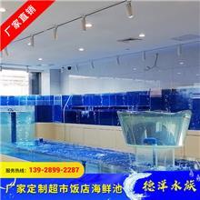 定做单层海鲜池  可移动海鲜池 全自动操作 超市超白玻璃鱼缸