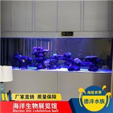 防辐射特种玻璃大型鱼缸订做_大型室内海洋馆建造 海洋馆观赏鱼池