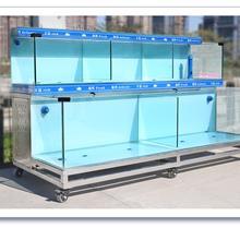 特种玻璃海鲜池定制_超市玻璃鱼缸定做_多层酒店海鲜池恒温制冷一体