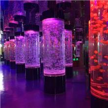 定制酒店异形鱼缸 财富广场大型锦鲤鱼池设计 海南海鲜鱼池制冷工程