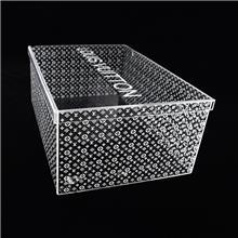 透明亚克力盒子 来图尺寸定制 厂家 带盖子   外表面uv喷印罩子 礼品手办模型防尘收纳箱