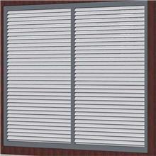 瑞宏金属 百叶窗帘定做 室外电动百叶窗 铝合金百叶窗 通风防雨