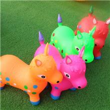 跳跳马批发 儿童充气跳跳马 彩绘奶牛儿童动物玩具跳跳马