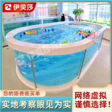 广东广州钢化玻璃亲子游泳池-亲子游泳池设备-亲子游泳加盟-伊贝莎