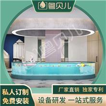 广东揭阳钢化玻璃亲子游泳池-亲子游泳池设备-亲子游泳加盟-伊贝莎
