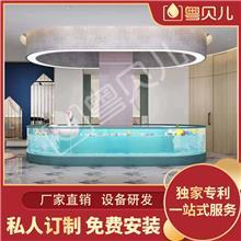 广东惠州钢化玻璃亲子游泳池-亲子游泳池设备-亲子游泳加盟-伊贝莎