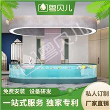 广东江门钢化玻璃亲子游泳池-亲子游泳池设备-亲子游泳加盟-伊贝莎