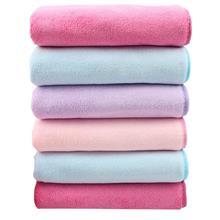 超细纤维珊瑚绒高密毛巾 柔软吸水美容素色擦车巾 加厚洗脸毛巾